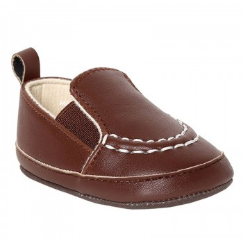 Miniklub Boys Solid Brown Pair of Softsole Shoes