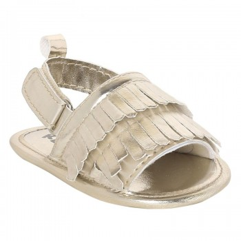 Miniklub Girls Golden Solid Softsole Sandals