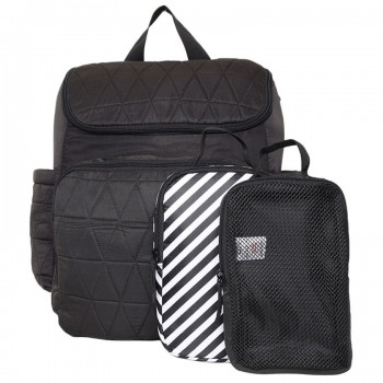 Miniklub Unisex Solid Black Diaper Bag