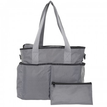 Miniklub Unisex Grey Solid Diaper Bag