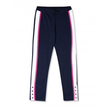 The Children's Place Girls Blue Contrast Taping Active Track Pants