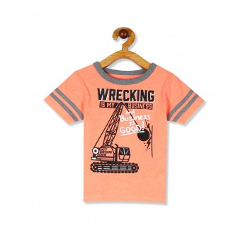 The Children's Place Toddler Boy Orange Matchables Short Sleeve Ringer Graphic Top