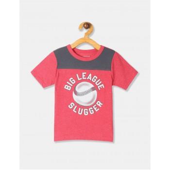 The Children's Place Toddler Boy Red Baseball Print T-Shirt