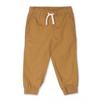 The Children's Place Boys Brown Woven Pull On Jogger Pants
