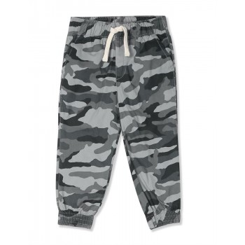 The Children's Place Boys Grey Camo Woven Pull On Jogger Pants
