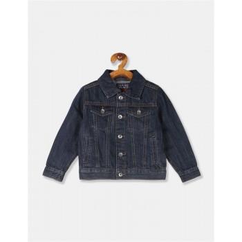 The Children's Place Toddler Boy Blue Panelled Denim Jacket
