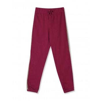 The Children's Place Girls Purple PinkActive Glitter Side Stripe Fleece Pants