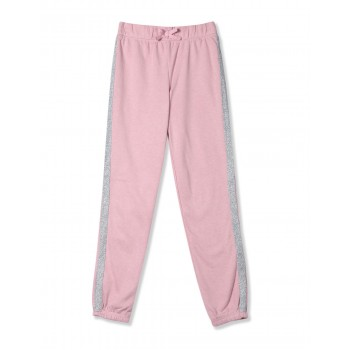 The Children's Place Girls Pink Active Glitter Side Stripe Fleece Pants