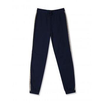 The Children's Place Girls Blue Active Glitter Side Stripe Fleece Pants