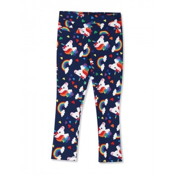 The Children's Place Baby And Toddler Girl Blue Rainbow Unicorn Print Ponte Knit Pull On Jeggings