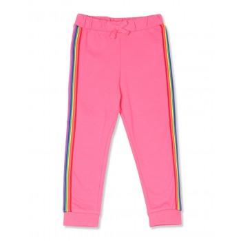 The Children's Place Toddler Girl Pink Rainbow Side Stripe Fleece Jogger Pants