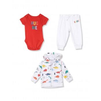 The Children's Place Baby Boy Assorted Dino 3-Piece Playwear Set
