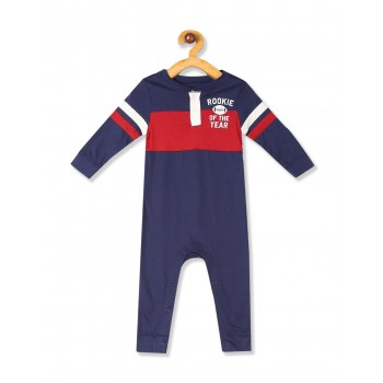 The Children's Place Baby Boys Blue  Long Sleeve 'Rookie Of The Year' Football Knit Bodysuit