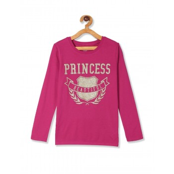 The Children's Place Baby And Toddler Girl Pink Glitter 'Family' Graphic Tee