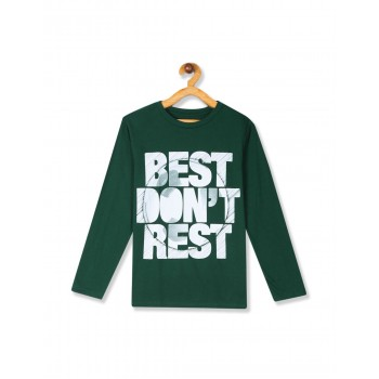 The Children's Place Boys Green Long Sleeve 'Best Don't Rest' Graphic Tee