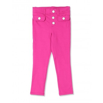 The Children's Place Toddler Girl Pink Solid Cotton Stretch Treggings