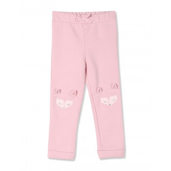 The Children's Place Toddler Girl Pink Glittery Print Fleece Joggers