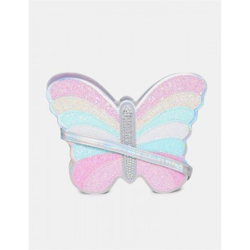 The Children's Place Girls Multi Colour Glittery Butterfly Embellished Sling Bag