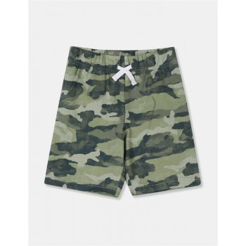 The Children's Place Boys Green Camo Print Knit Shorts