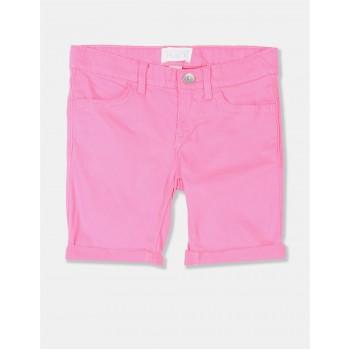 The Children's Place Girls Pink Roll Cuff Denim Skimmer Shorts