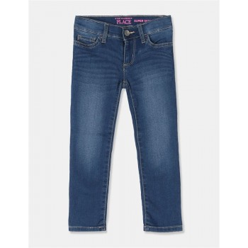 The Children's Place Girls Blue Super Skinny Faded Jeans