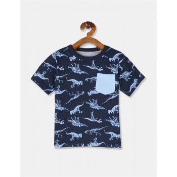 The Children's Place Toddler Boy Blue Patch Pocket Printed T-Shirt