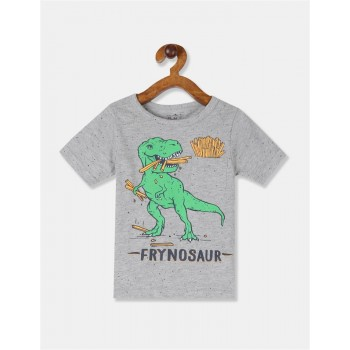 The Children's Place Toddler Boy Grey Patch Pocket Dinosaur Graphic T-Shirt
