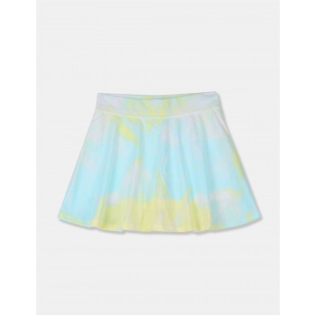 The Children's Place Girls Aqua And Yellow Printed Flared Skort