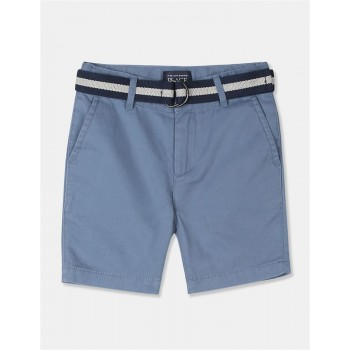 The Children's Place Boys Blue Belted Chino Shorts