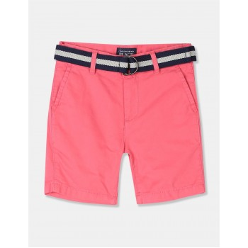 The Children's Place Boys Pink Belted Chino Shorts