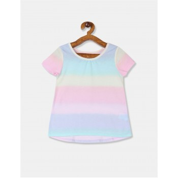 The Children's Place Toddler Girl Multi Colour Printed Cotton Jersey T-Shirt