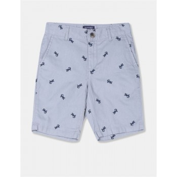 The Children's Place Boys Grey Print Chino Shorts