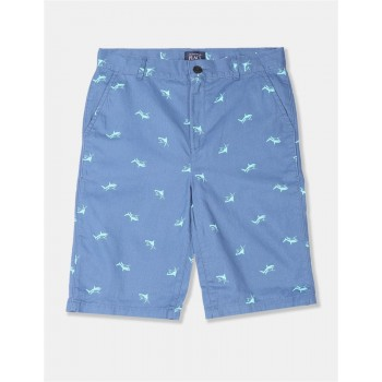 The Children's Place Boys Blue Print Chino Shorts