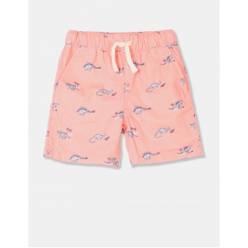 The Children's Place Toddler Boy Orange Dino Pull On Jogger Shorts