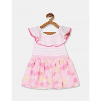 The Children's Place Toddler Girl Pink Off Shoulder Twofer Dress