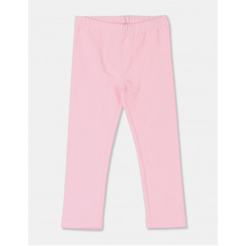 The Children's Place Toddler Girl Pink Solid Cotton Stretch Leggings