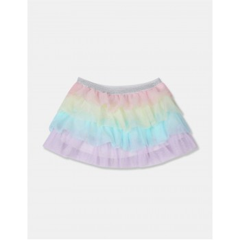 The Children's Place Girls Multi Colour Tiered Mesh Skirt