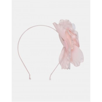 The Children's Place Girls Pink Floral Accent Metallic Headband