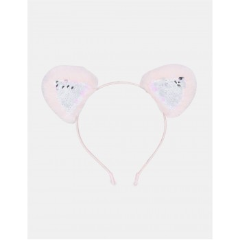 The Children's Place Girls Pink Flippy Sequin Accent Metallic Headband