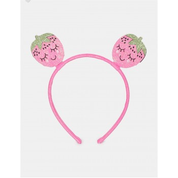 The Children's Place Girls Pink Strawberry Glitter Headband