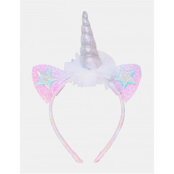 The Children's Place Girls Multi Colour Mesh Unicorn Accent Embellished Headband