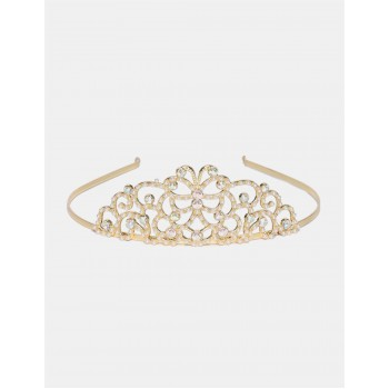 The Children's Place Girls Gold Embellished Crown Metallic Headband