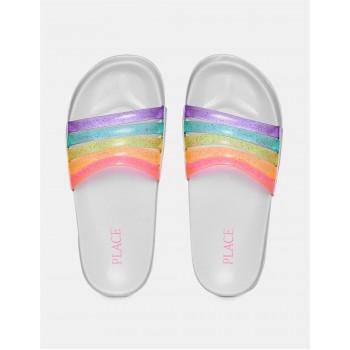 The Children's Place Girls Multi Colour Open Toe Strappy Slides