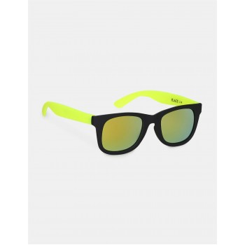 The Children's Place Black And Neon Green Square Frame UV Protected Sunglasses