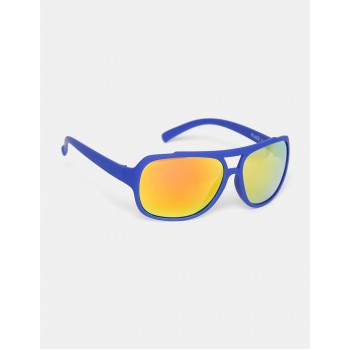 The Children's Place Boys Blue And Gold Rectangular UV Protected Sunglasses