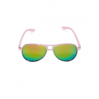 The Children's Place Girls Pink And Green Metal Frame Mirrored Sunglasses