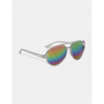 The Children's Place Silver Unicorn Accent Round Frame Sunglasses