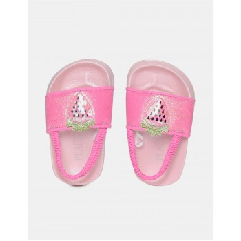 The Children's Place Toddler Girl Pink Embellished Forefoot Strap Slides