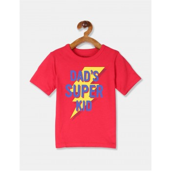 The Children's Place Boys Red Printed Cotton Jersey T-Shirt