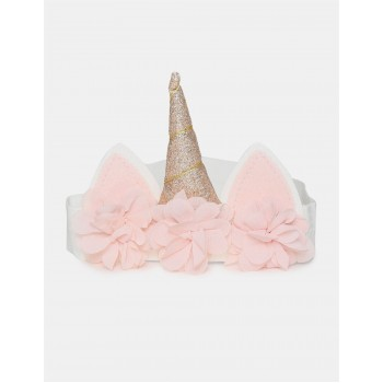 The Children's Place Girls Pink Embellished Horn Accent Headband